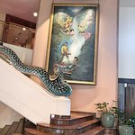 Staircase with dragon as hand rail!