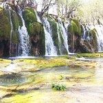 One of mini waterfall around Bamboo Lake and Panda Lake
