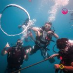 Bubble rings with instructor Hugo