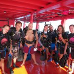 Instructor Rory with his Open Water Divers