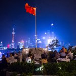 Outdoor dining at M on the Bund