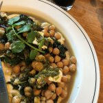 Roasted chick peas and kale