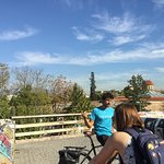 Kostas giving information about the city.