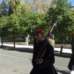 Changing of the guard at the presidential palace.