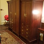Large wardrobe and TV cupboard.
