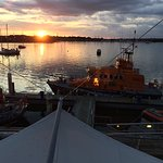 Sunset from the bar at RNLI College