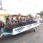 Consegna in hotel di 22 bici + accessori