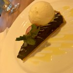 chocolate green tea tart