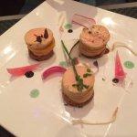 Millefeuilles de foie gras-Mangue-Pain d'épices