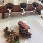 melt in your mouth fillet, mushrooms and truffle, three ages of cabsav merlot