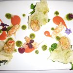 Langoustines en vinaigrette de crustacé aux aromates et agrumes, caviar « Royer »