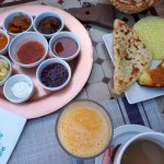 Our Breakfast in dades Gorges Hotel with AzulAventuras