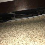 broken blinds under the bed