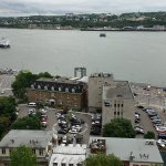 View of Quebec bay from upper old part of city near to the hotel