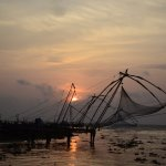Sunset from Fort Kochi over Chinese Fishing nets