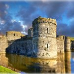 Beaumaris Castle on the Isle of Anglesey in Wales