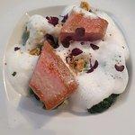 Tuna with green veggies