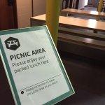 Mitten im Museum ein Picknickplatz