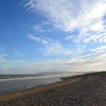 The beach, a short walk away.