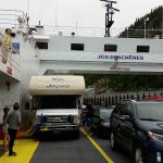 St.Laurent river crossing to reach Tadoussac by free ferry service