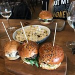 The french burger, sliders and the cheesy fries