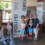 Our family at Pompeii with our awesome guide Francesca.