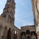 The bell tower and the peristyle of Diocletian's Palace