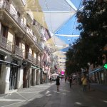 Calle de Preciados, pedestrian-only street where the hotel is located.