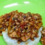 fish with blackeyedd peas