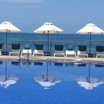 Pool from Coco de Mer; not the extra pool from the Black Parrot Suites