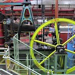 part of Enginuity's hans-on activities: the fly wheel....