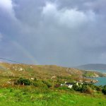 Just above Iskeroon on road down the hill. We saw a rainbow everyday here.