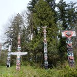 Firts Nations totem poles