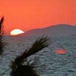 Sunset over Turkey from Kos