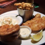 Half portion of fish and chips (Bin the Yorkie pudding)