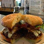 Aloha Burger! Our Famous Burger Patty topped with Pineapple, Provolone and delicious Teriyaki Sa