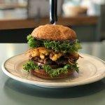Mac-N-Cheese Burger!