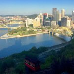 View of Pittsburgh from the top of the Incline