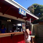 The newly reopened Aokis Shave ice stand.