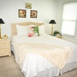 Sandy Shores apartment has comfy queen size bed and lovely luxurious linens.