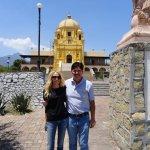 Standing in front of the Palacio del Obispo