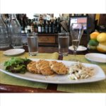 Smoked Fried Green Tomatoes with lump crabmeat