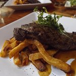 Wonderful 10 oz sirloin steak with delicious pomme frites
