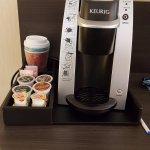 Keurig coffeemaker in room