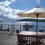 The deck at Wahoo Bar Havannah Harbour Vanuatu