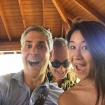 Matthew photobombing us at Ted's :)
