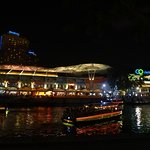 river at night - within easy walking distance from hotel to eateries