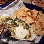 Artichoke dips and tortilla. Delicious