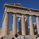 Parthenon and ubiquitous tour group :-)