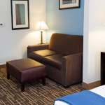 Each of suites has a sofa bed